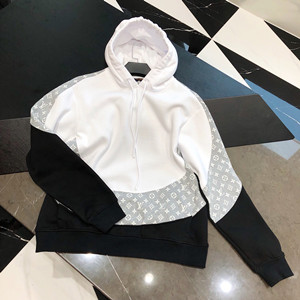 lv louis vuitton monogram circle cut hoodie