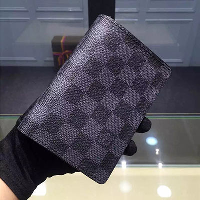 Louis Vuitton PASSPORT COVER N60031 Damier Graphite Canvas