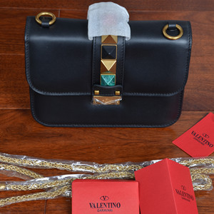 valentino noir chain cross body bag