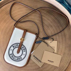burberry monogram print e-canvas phone case with strap