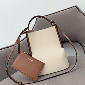burberry leather peggy bucket bag