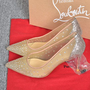 christian louboutin 8.5cm follies strass shoes