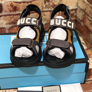 gucci leather and mesh sandal shoes