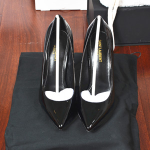 ysl yves saint laurent opyum pumps in leather and metal