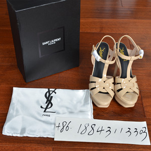 ysl yves saint laurent leather high heeled sandals shoes